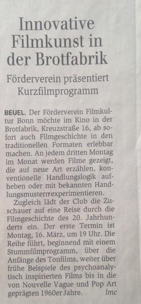 Genral-Anzeiger Bonn 13.03.2015