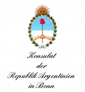 Wappen des argentinischen Konsulats in Bonn