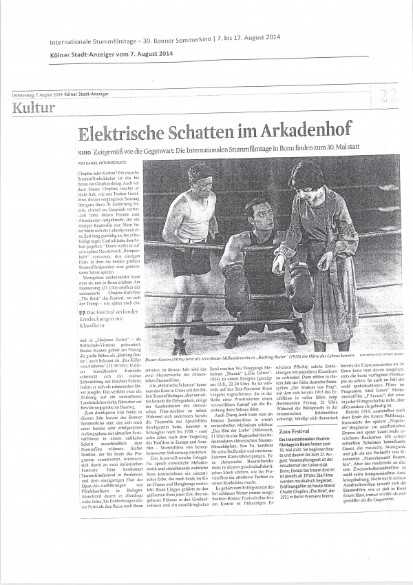 Kölner Stadt-Anzeiger 07.08.2014