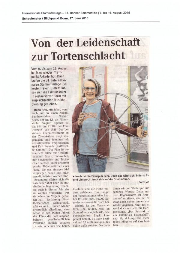 Schaufenster/Blickpunkt Bonn 17.06.2015